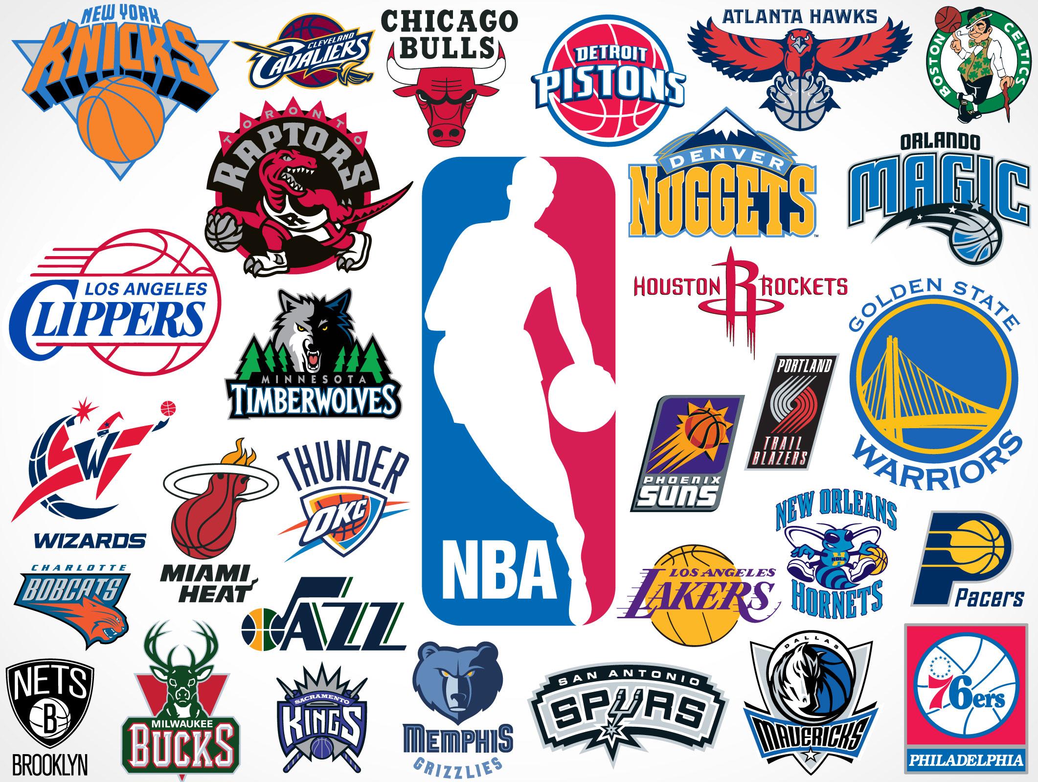 NBA Team Vector Logos • Market Your PSD Mockups for logos